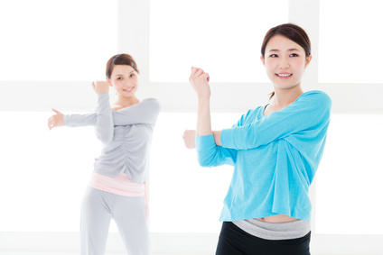 young asian women exercise image
